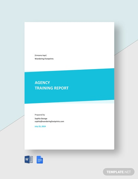 Agency Training Report Template