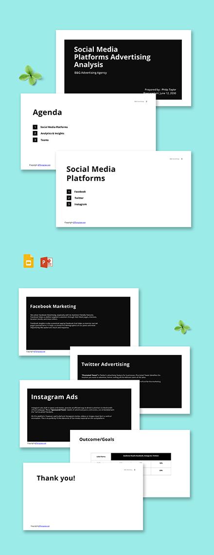 Free Simple Advertising Agency Presentation