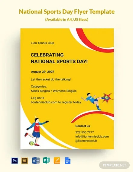Free National Sports Day Flyer Template