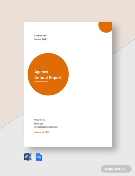 Agency Annual Report Template