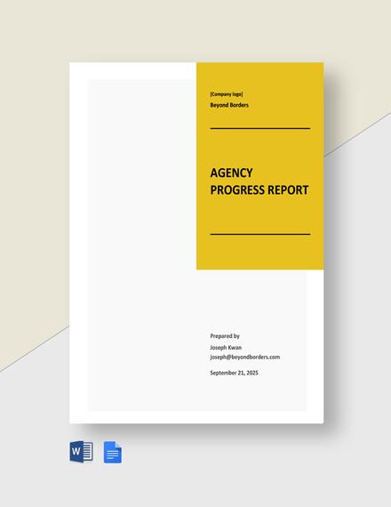Agency Progress Report Template