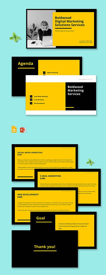 marketing agency keynote presentation Template