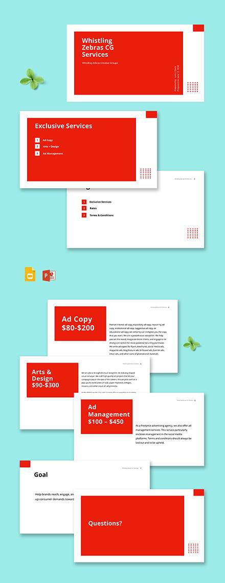 Creative Advertising Agency Presentation Template