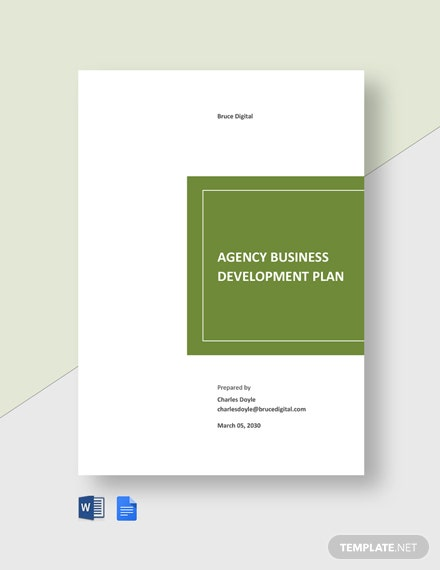 Agency Business Development Plan Template
