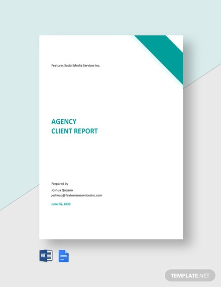 Agency Client Report Template
