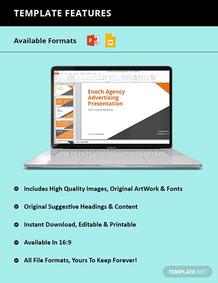 Free advertising agency presentation Format