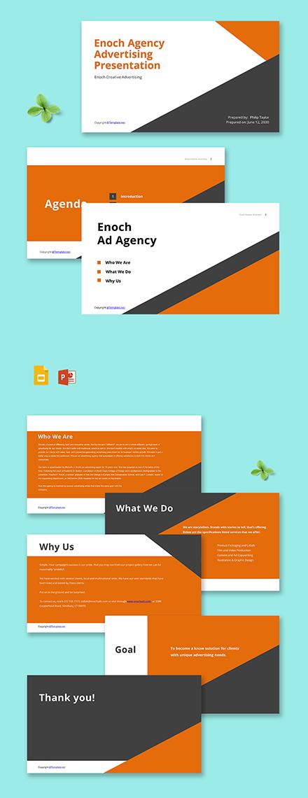 Free Advertising Agency Presentation Sample Template