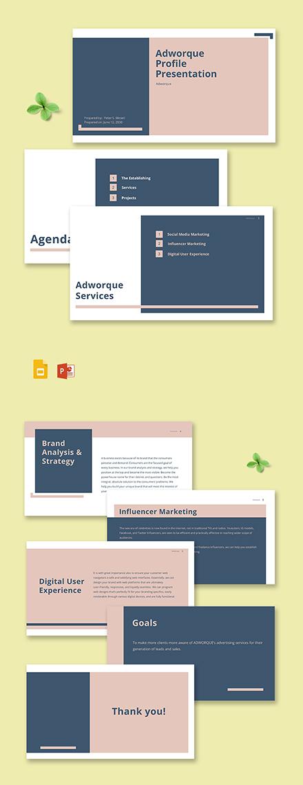 Advertising Agency Profile Presentation