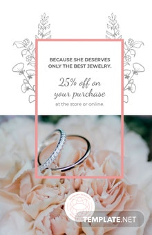 Free Jewelry Store Discount Poster Template