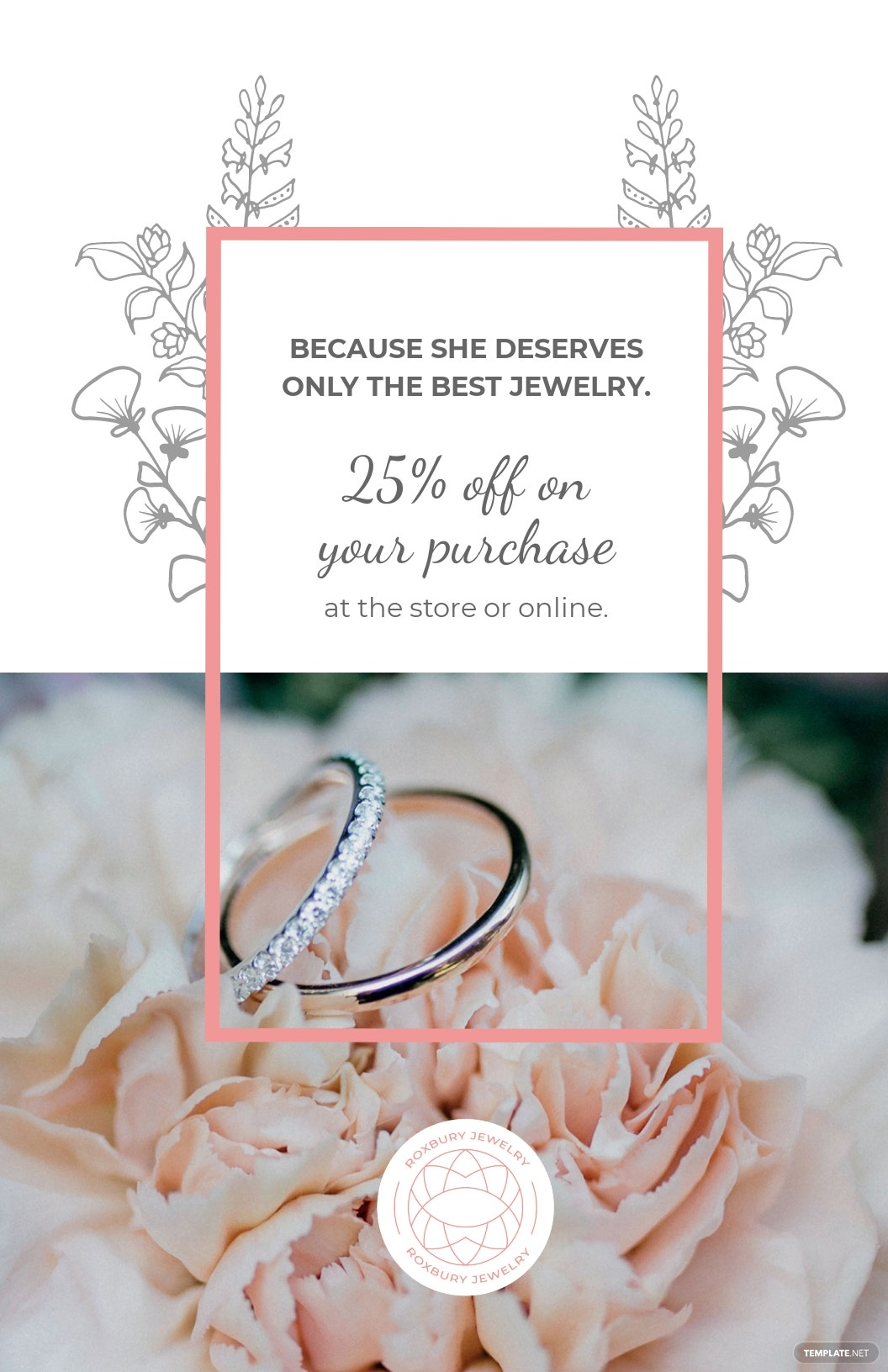 Free Jewelry Store Discount Poster Template.jpe