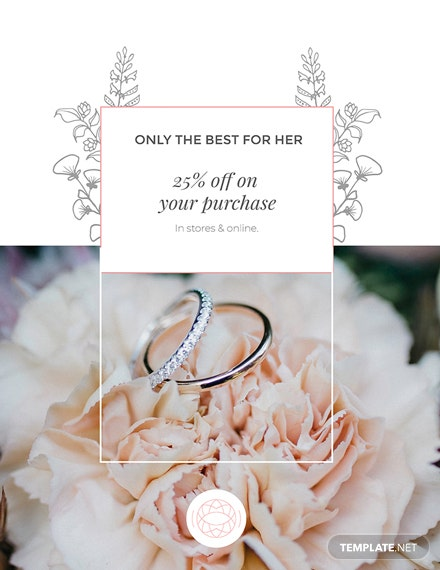 Jewelry Store Discount Poster Template
