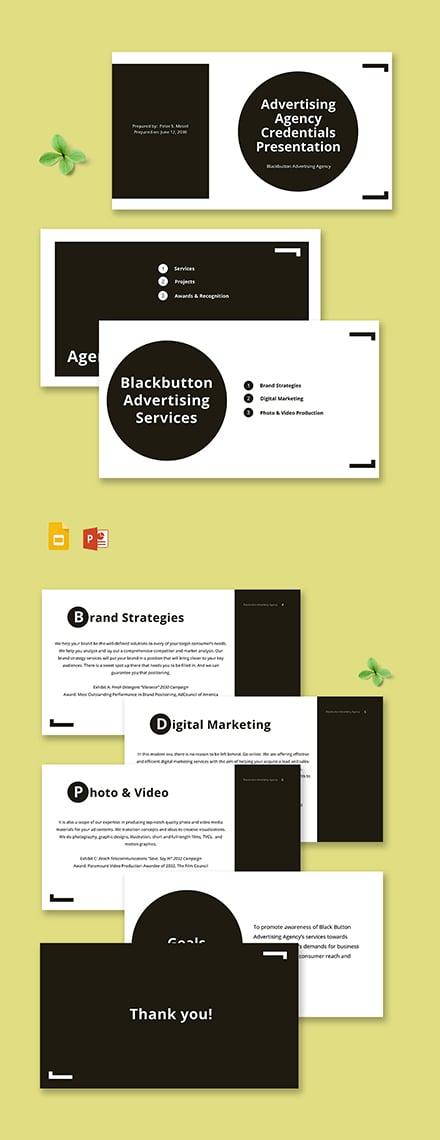 Advertising Agency Credentials Presentation