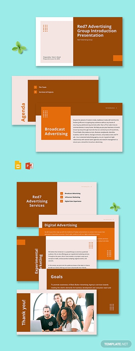 Advertising Agency Introduction Presentation