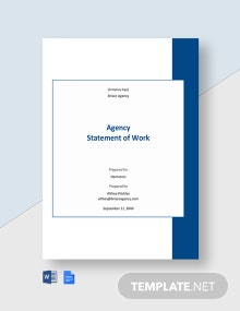 Agency Statement of Work Template