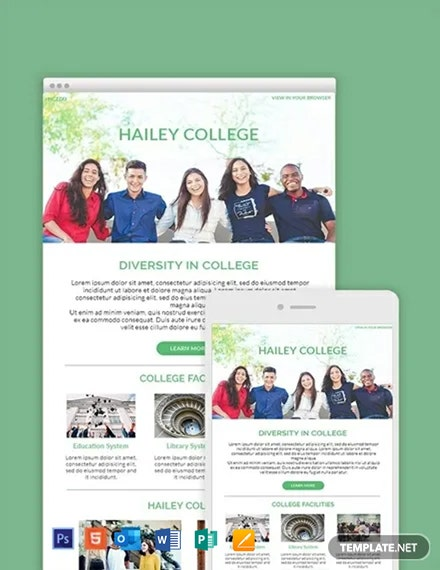 Free College Email Newsletter Template