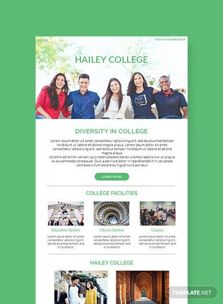 College Email Newsletter Template