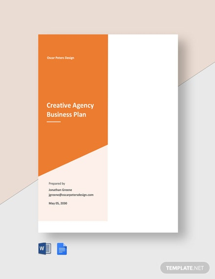 Free Creative Agency Business Plan Template