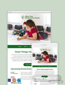 Elementary Email Newsletter Template