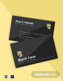 Modern Advertising Agency Business Card Template