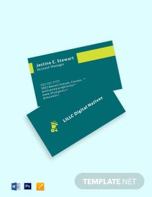 Digital Marketing Agency Business Card Template