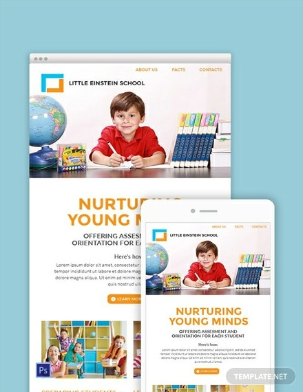 free preschool email newsletter template 440x570 1