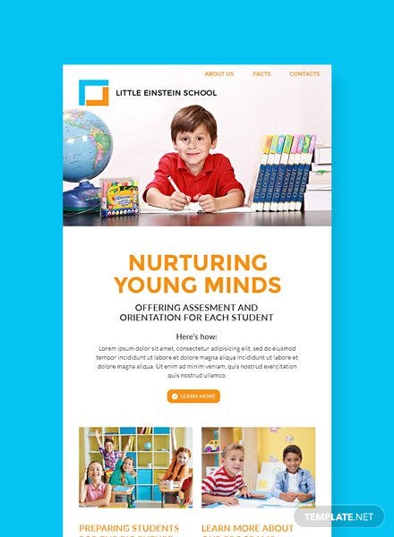Preschool Email Newsletter Template