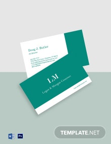 Simple Advertising Agency Business Card Template
