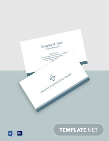 Minimal Advertising Agency Business Card Template