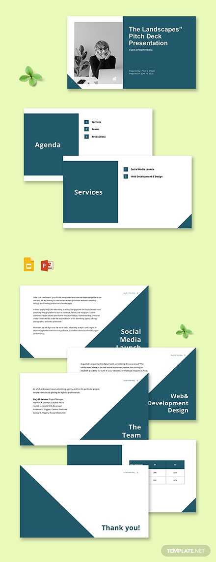 Advertising Agency Pitch Deck Presentation Template