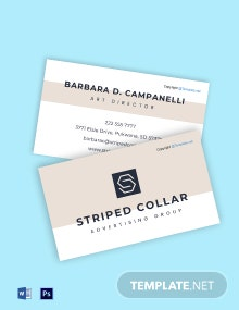 Sample Advertising Agency Business Card Template