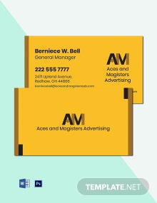Professional Agency Business Card Template