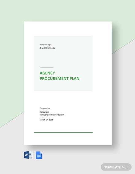Agency Procurement Plan Template