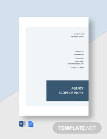 Agency Scope of Work Statement Template