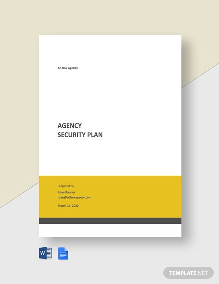 Agency Security Plan Template