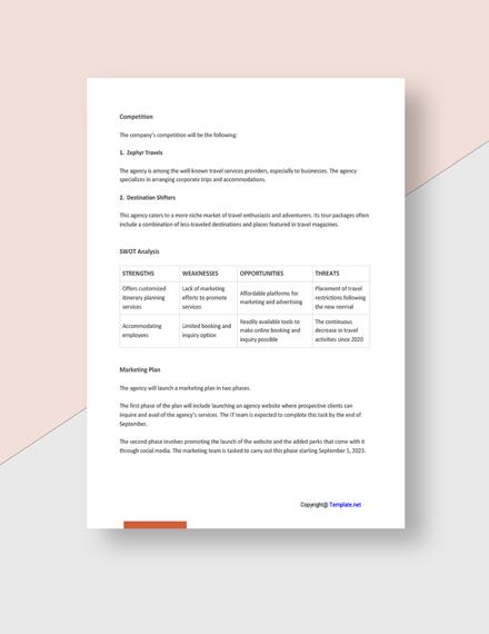 Free Simple Agency Plan Download
