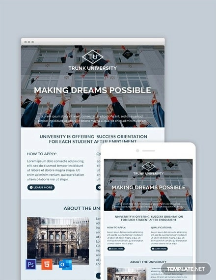 Free University Email Newsletter Template