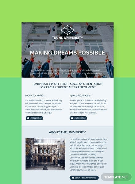 University Email Newsletter Template