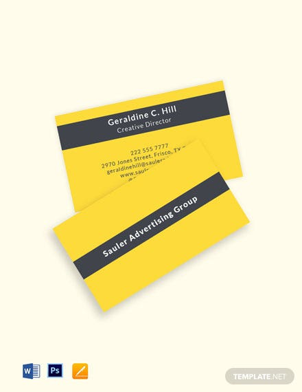 Professional Advertising Agency Business Card Template