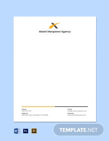 Official Agency Letterhead Template
