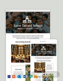 Free Weekly Email Newsletter Template