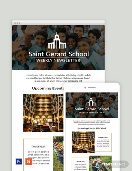free weekly email newsletter template 440x570 1