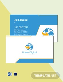 Digital Agency Business Card Template