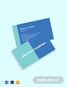 Creative Advertising Agency Business Card Template