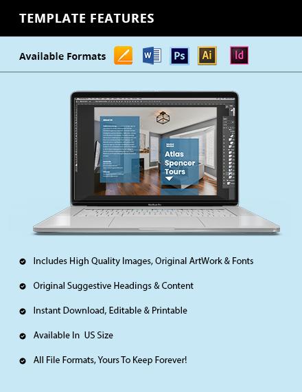 Creative BiFold Agency Brochure Instructions