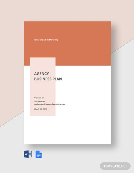 Agency Business Plan Template