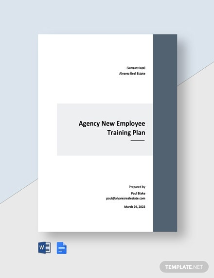 Agency Training Plan Template