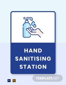 Hand Sanitizing Station Label Template
