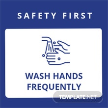 Wash Hands Frequently Label Template