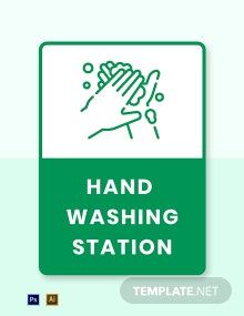 Hand Washing Station Label Template