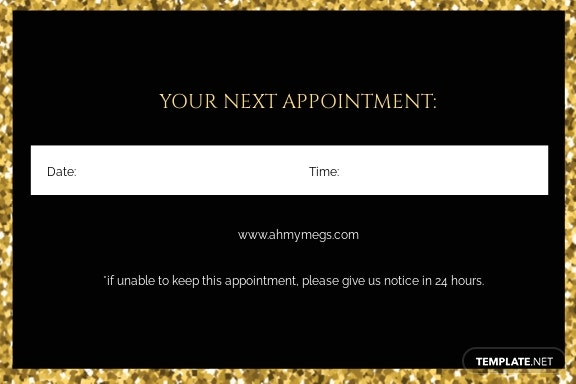 Free Makeup Artist Appointment Card Template 1.jpe